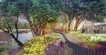 Летний вариант цветочной набережной