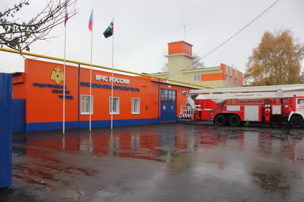 Два обновленных пожарных депо открыли вселах Белгородской области