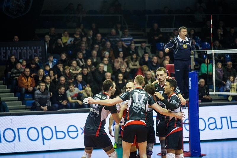 Волейболисты «Белогорья» победили краснодарское «Динамо» вматче чемпионата РФ